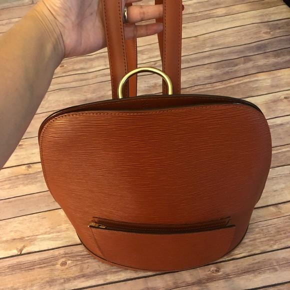 b1b3e17561d1 Louis Vuitton Epi cobelins back pack brown.
